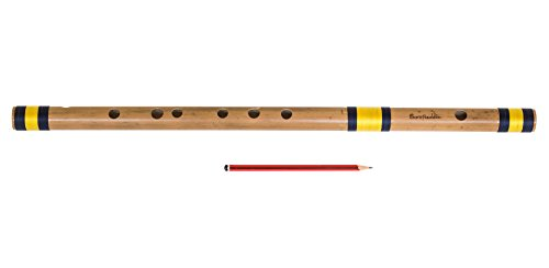 Sarfuddin Flutes, Bansuri, Bamboo Flute Indian, Scale A Sharp Base 21.5 Inches, Concert Quality, Nylon Pipe Bag, Accurately Tuned, Indian Bansuri Hindustani (PDI-DEC)