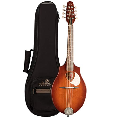 Seagull S8 Acoustic Mandolin Burnt Umber with Seagull S-Line Fully Padded Gig Bag