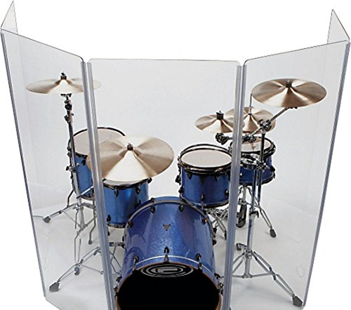 Drum Shield/Drum Screen Panels 6 Panels 2ftX5ft with Flexible Hinges