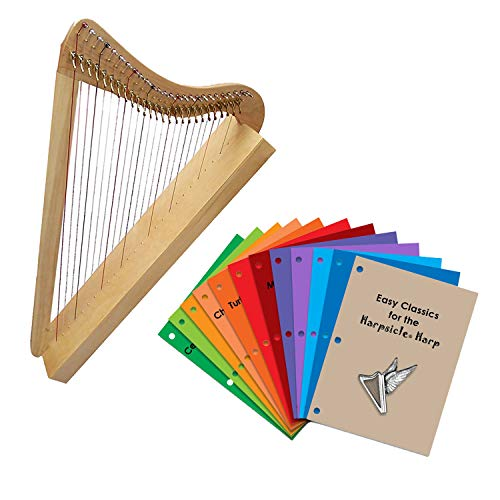 Rees Harps Fullsicle Maple Harp with Music Sets and Books Bundle