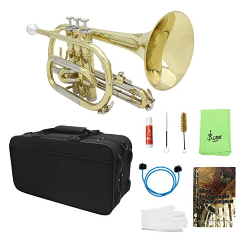 MagiDeal Bb Flat Cornet with Gig Bag Case Gloves Cleaning Cloth Durable Portable Brass Instrument