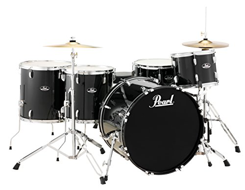 Pearl Roadshow RS525WFC/C31 5-Piece Drum Set, Jet Black