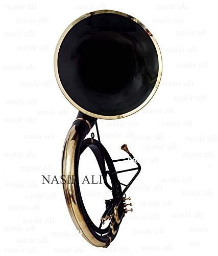NASIR ALI sousaphone for sale KING SIZE TUBA 24″ FOR SALE Bb PITCH BLACK COLORED WITH BAG