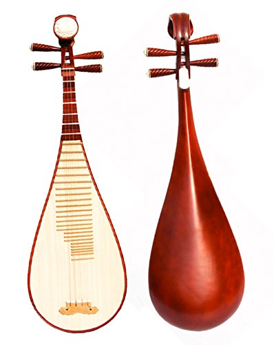 OrientalMusicSanctuary Varnished Rosewood Pipa YHP01
