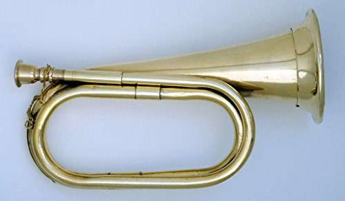 SHREYAS CIVIL WAR CAVALRY BUGLE WITH COPPER AND BRASS FINISH