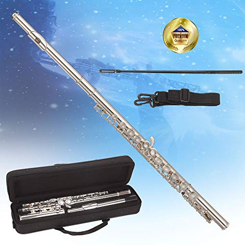 Libretto Silver-plated Closed Hole C Flute, Great for Beginners and Music Lovers in pursuit of Quality!