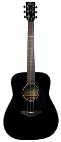 Yamaha FG800 Solid Top Dreadnought Acoustic Guitar – Black