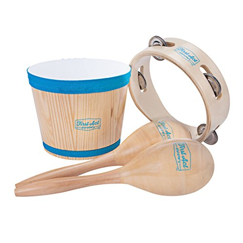 First Act Discovery Percussion Pack, Bongos, Maracas, and Tambourine (FAD0141)