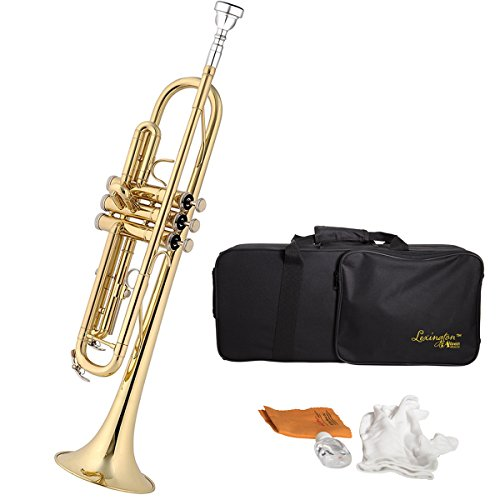 Trumpet Aileen Lexington Brass Lacquered Bb Key Student Intermediate Trumpet with Full Accessories and Kit