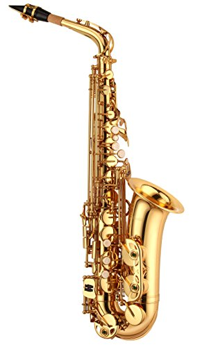 Libretto Gold Lacquer Eb Alto Saxophone with Durable ABS Case! Made Exclusively by Stage Rocker, Made in Taiwan!