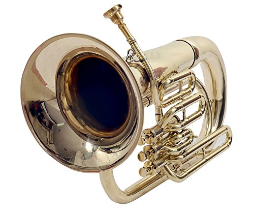 BAND APPROVED New Brass Finish Bb Flat Euphonium Free Case+Mouthpiece