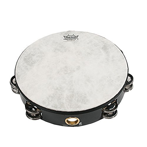 Remo 8 inch Fiberskyn Tambourine (Double Jingle; Black; Teen/Adult)