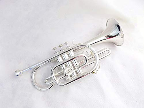 Bb Cornet Silver Plated Yellow Brass Body with Case and Mouthpiece