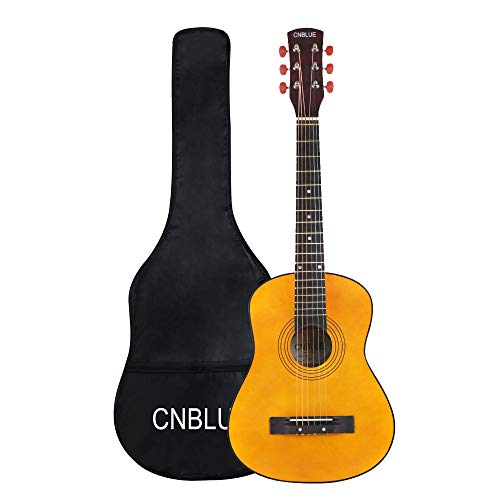 30 Inch Acoustic Guitar,1/2 Size Mini Guitars Instrument Beginner Kit for Kids/Beginners/Child with Gig Bag Natural Guitar