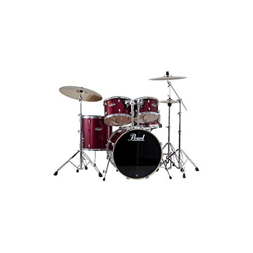 Pearl Export EXX 8-piece Double Bass Drum Set with Hardware – Burgundy