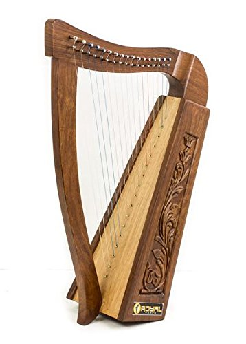 Celtic Harp Rose 17 string Irish Style with Bag & Extra strings & key included