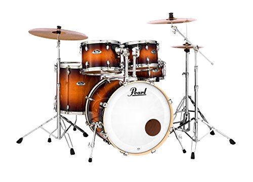 Pearl Export Lacquer 5-pc. Shell Pack (Hardware/Cymbals not Included), Gloss Tobacco Burst (EXL725P/C)