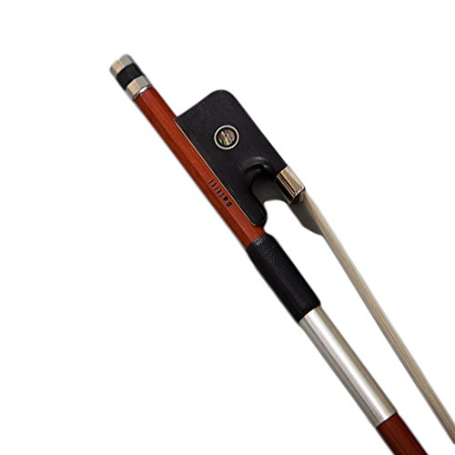 Paititi Full Size Viola Bow Pernambuco Wood with Double Pearl Eye Mongolian Horsehair Well Balanced with FREE Bow Case
