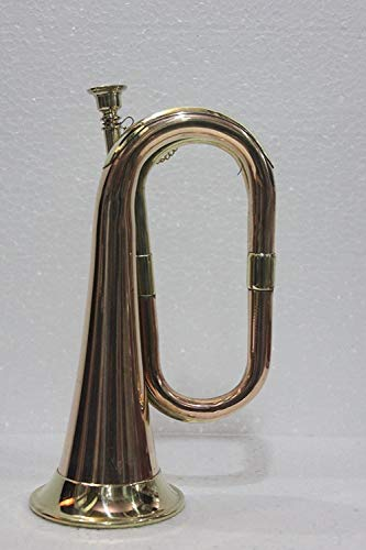 SC EXPORTS Bugle Brass With Bugle Instrument W/Case Gold