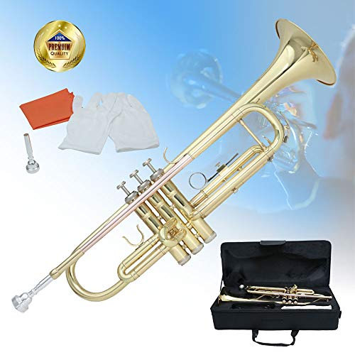 Libretto Trumpet Bb Lacquer Rose Brass, Great for Beginners and Music Lovers in pursuit of Quality!
