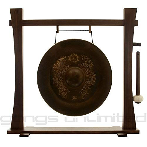 Vietnamese Dragon Gongs on Stands