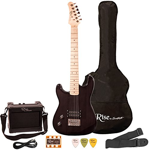 Rise by Sawtooth ST-RISE-ST-LH-BLK-KIT-1 Electric Guitar Pack, Left Handed, Black
