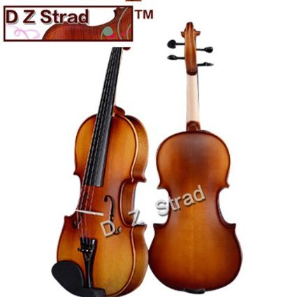 D Z Strad Violin Model 100 with Solid Wood Full Size 4/4 with Case, Bow, and Rosin (4/4 – Size)