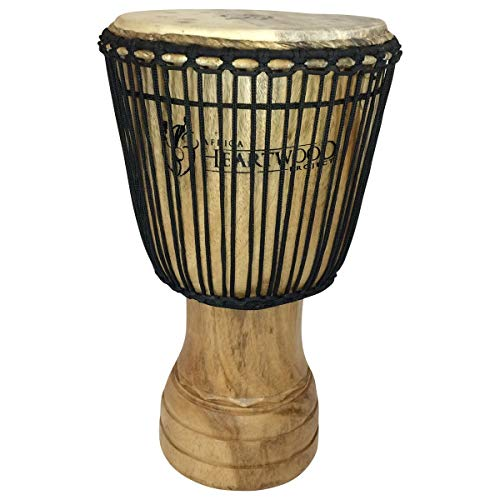 Hand-carved Djembe Drum From Africa – 13″x24″ Classic Ghana Djembe (Village Carving)