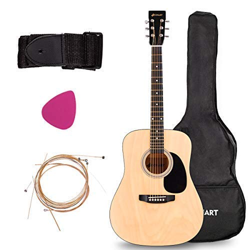 Acoustic Folk Guitar, Safeplus Multi-color Beginners 6 Strings Guitar with Guitar Case, Strap, Guitar pick, Tune