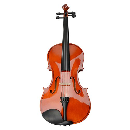 15″ Back to School Basswood Acoustic Viola + Case + Bow + Rosin Xmas (Nature Color)