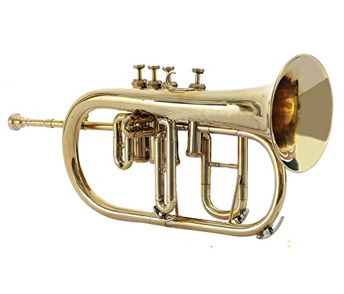 NASIR ALI BRASS FLUGEL HORN Bb PITCH FOR SALE WITH FREE HARD CASE AND MOUTHPIECE