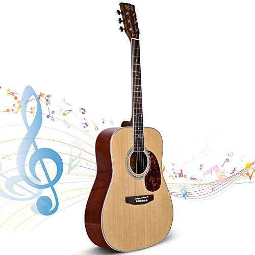 Beginner Guitar, Lico 41 Inch Acoustic Guitar Starter Pack with Gig Bag, Tuner, Strings, Strap, 6 String Classical Guitar Beginner Kits
