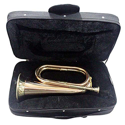 SC EXPORTS Stylish And Stunning With Beautifully Crafting Bugle Made Of Brass With Bugle Instrument w Case