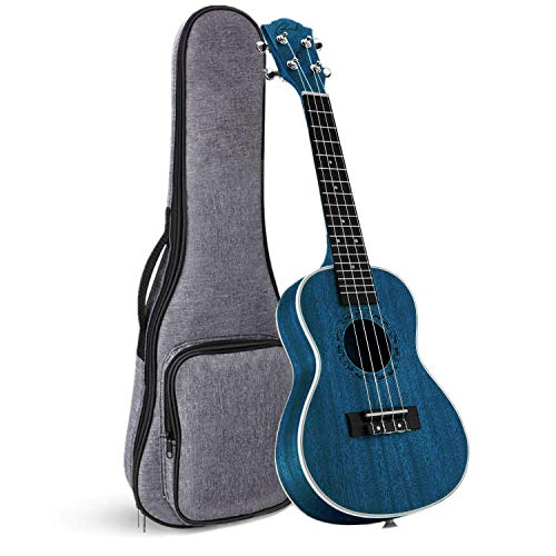 Tenor Ukulele Ranch 26 inch Professional Wooden ukelele Instrument with Free Online 12 Lessons and Gig Bag – Small Hawaiian Guitar – Starry Blue