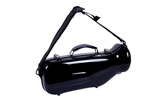 Crossrock Trumpet Case- Fiberglass Hardshell with Backpack Straps in Black