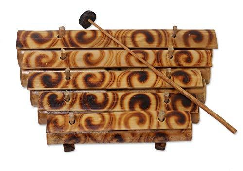 Wood Xylophone With Mallet 5 Tone Bamboo Zen Energy Chime Percussion Instrument – Large Size