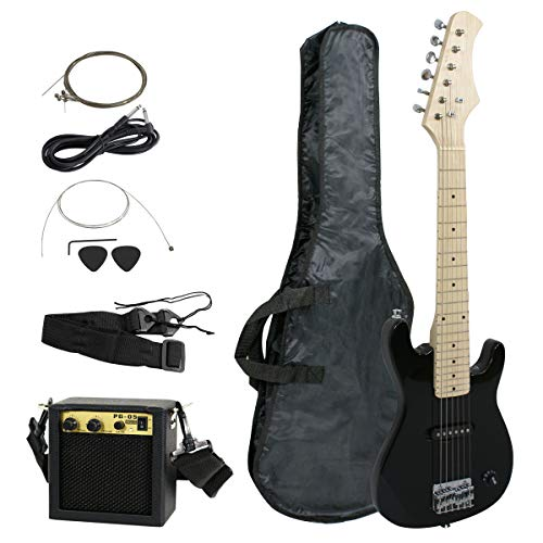 Smartxchoices 30″ Inch Kids Electric Guitar With 5W Amp & Much More Guitar Combo Accessory Kit Holiday Gift (Black)