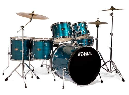 Tama Imperialstar 6-Piece Complete Drum Set with Meinl HCS Cymbals – FREE PROMO CYMBAL PACK – Hairline Blue