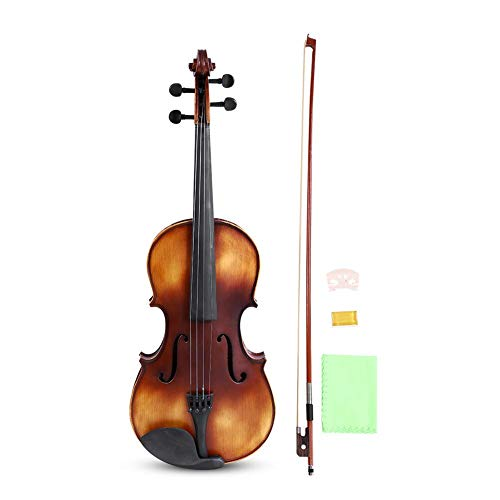 Cocoarm 16 Inch Viola Spruce Faceboard Maple Wood Vintage Viola Acoustic Starter Instrument Kit with Storage Case For Learners Beginners, Bow, Rosin, Bridge Included