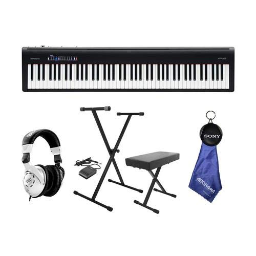 Roland Roland FP-30 Digital Piano with Keyboard Stand, Bench, Pedal and Headphone Kit