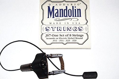 LR Baggs RADIUS: 101441 Mandolin Pick Up with Side Mount 1/4″ Output Jack Will include 1 Set J67 StringsUSA