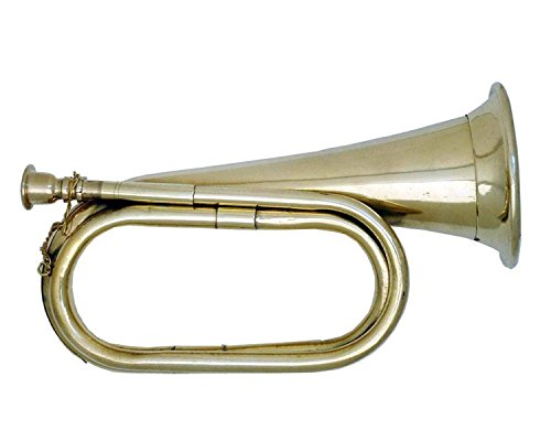 MAHA LAKSHMI Army, Military FULL BRASS Bugle With Free Hard Case + M/P