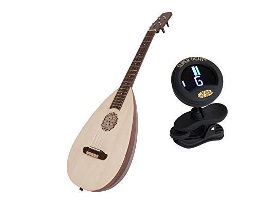 Baroq-UleleSheesham Package Includes: Roosebeck Baritone Baroq-UleleSheesham W/Tuners & Bag + Snark Clip-On Chromatic Tuner For Guitar, Lute, Oud Dulcimer