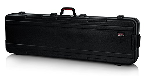 Gator Cases Molded Flight Case for Slim 88-Note Keyboards with TSA Approved Locking Latches and Recessed Wheels; (GTSA-KEY88SL)