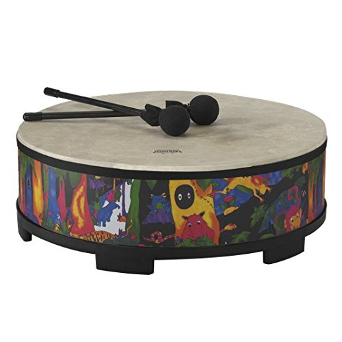 Remo KD-5822-01 Kids Percussion Gathering Drum – Fabric Rain Forest, 22″