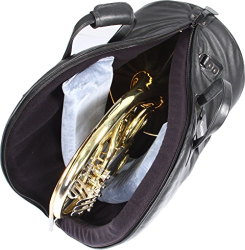Gard Mid-Suspension Fixed Bell French Horn Gig Bag 41-MSK Black Synthetic w/ Leather Trim