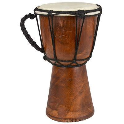 BND Drums Mini Djembe Drum djembe jembe is a rope-tuned skin covered goblet drum played with bare hands originally from West Africa
