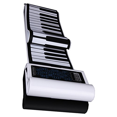 DUWEN Keyboard Children's Roll Keyboard   88 Keys Collapsible Portable   White