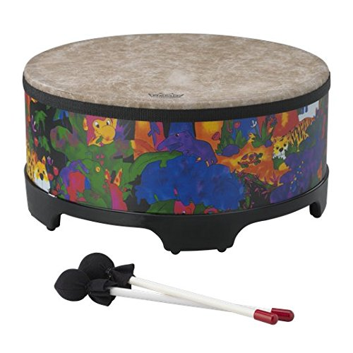 Remo KD-5816-01 Kids Percussion Gathering Drum – Fabric Rain Forest, 16″