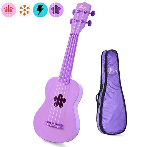 Aileen Beginner Ukulele 21 Inch Soprano Kids Starter Ukuleles Bundle with Gig Bag, Purple